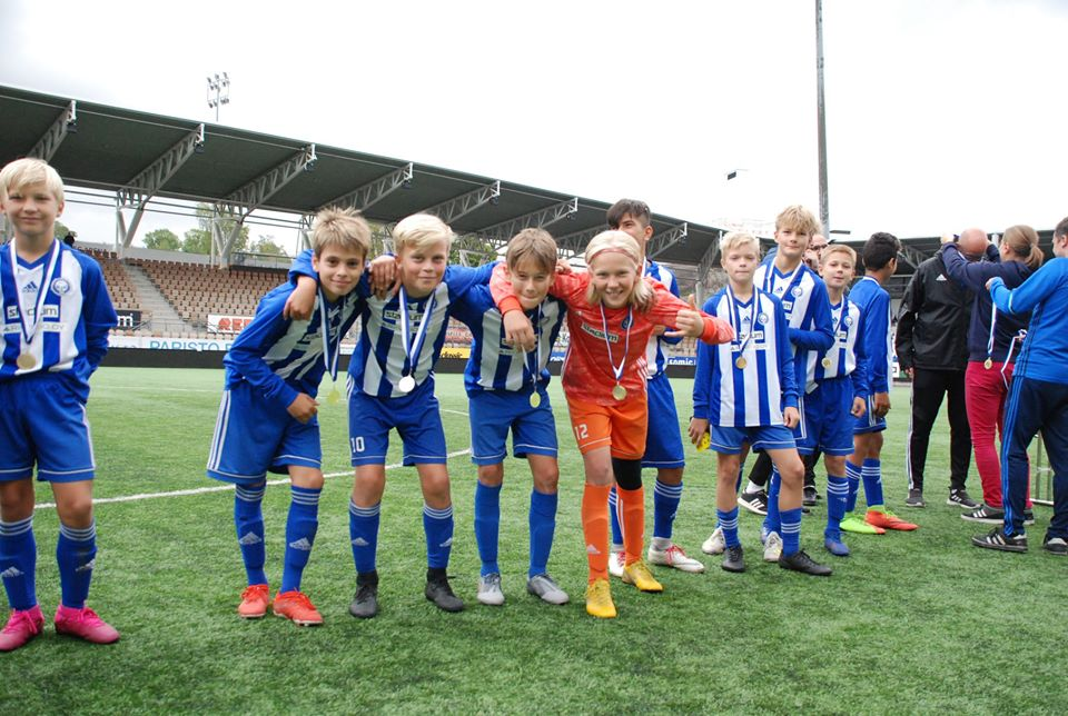 HJK Cup youth football tournament, HJK 07, U12 winners. Photo: Mitja Toivonen / Laajasalon Opisto