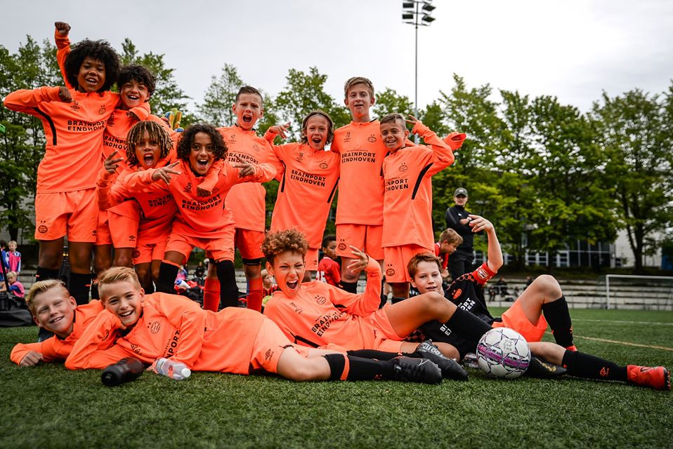 HJK Cup youth football tournament, PSV Eindhoven U12, 2019. Photo: Anni Huomolin / Laajasalon Opisto