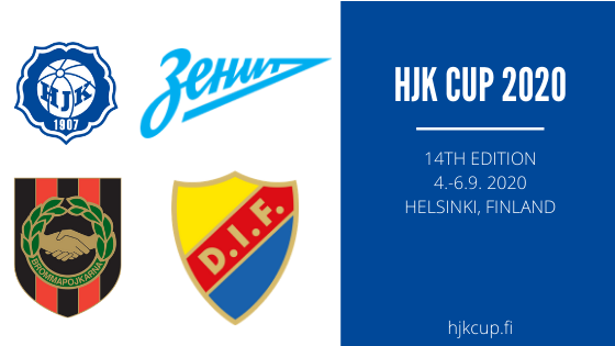 Zenit, IF Brommapojkarna and Djurgårdens IF are the 1st international teams to confirm their participation in HJK Cup 2020.